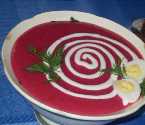 Готовий суп-пюре з буряка