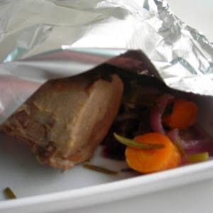 м'ясо у фользі