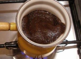 каву з пінкою