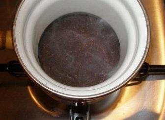 розігріваємо кавову суміш на вогні