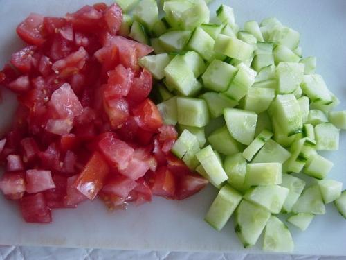 нарізаємо овочі