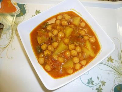 суп з нутом і овочами