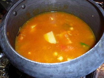 суп в казані