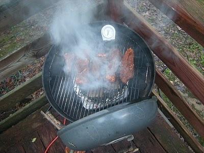 Гаряче копчення свинини