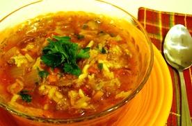 суп з рисом і м'ясним фаршем